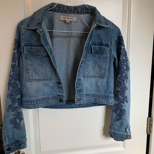 CK Embroidered Jean Jacket